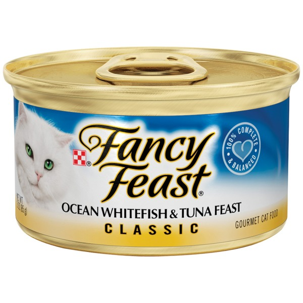 Fancy Feast Wet Classic Ocean Whitefish & Tuna Feast Cat Food