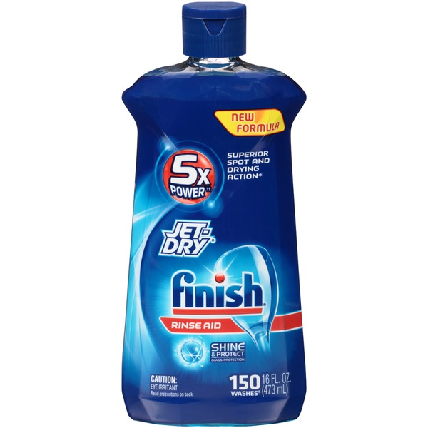 Finish   Jet Dry Shine & Protect Glass Protection Dishwasher Rinse Aid