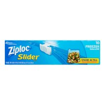 Ziploc Slider Freezer Bags, Gallon, 10 Ct