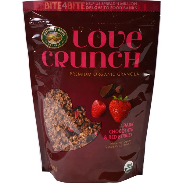 Nature's Path Love Crunch Organic Granola Dark Chocolate & Red Berries