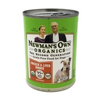 Newman's Own Organic Grain Free Chicken & Liver Dinner Canned Dog Food