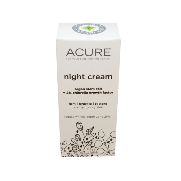 Acure Night Cream Argan Stem Cell + 2% CGF