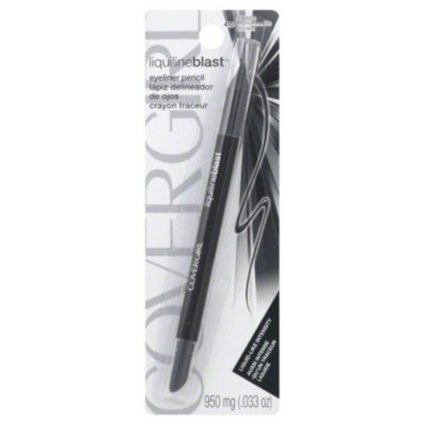 CoverGirl Liquiline Blast COVERGIRL LiquilineBlast Eyeliner Pencil, Blackfire .033 oz (950 mg) Female Cosmetics