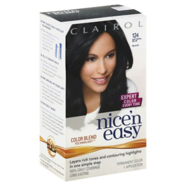 Clairol Nice 'N Easy Permanent Hair Color 2BB Natural Blue Black 1 Kit Female Hair Color
