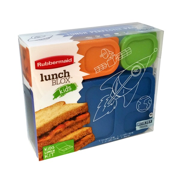 Rubbermaid Lunchblox Blue Flat Pack