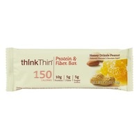 thinkThin Protein & Fiber Bar Honey Drizzle Peanut