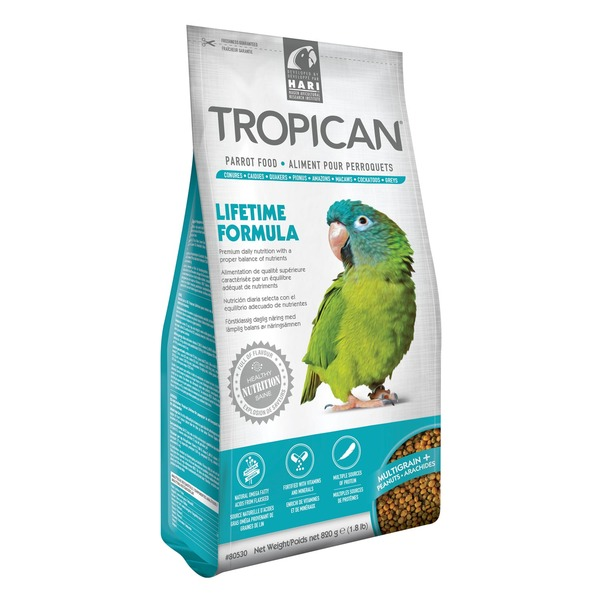 Tropican Lifetime Maintenance Food Granules for Parrots