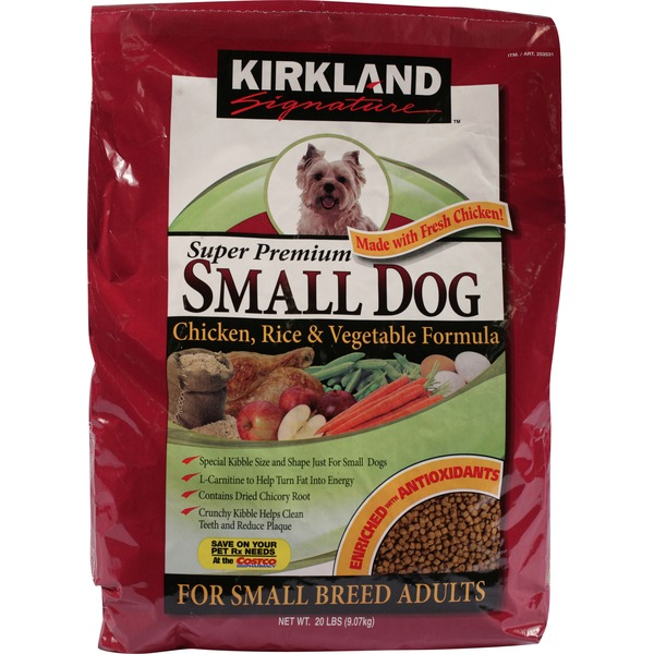Kirkland Signature Super Premium Small Dog Chicken Rice & Vegetable Formula