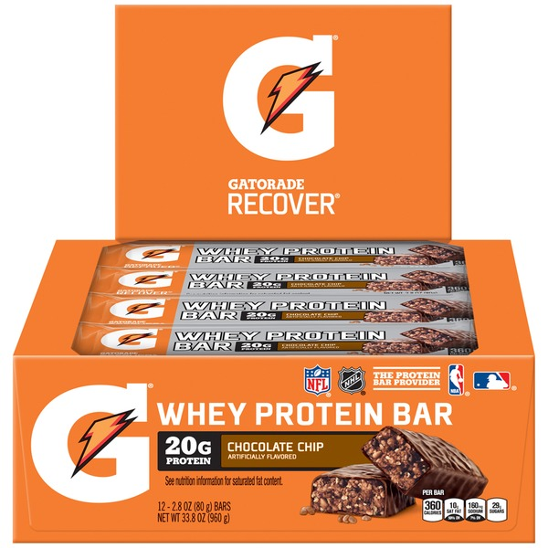 Gatorade Recover Chocolate Chip Whey Protein Bar