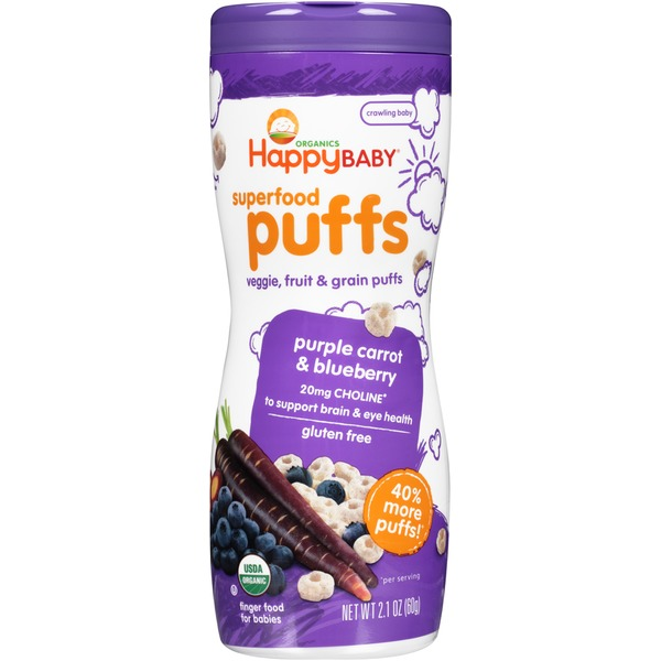 Happy Baby/Family Purple Carrot & Blueberry Superfood Puffs