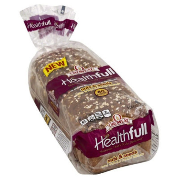 Brownberry/Arnold/Oroweat Healthfull 100% Whole Grain Bread Nuts & Seeds