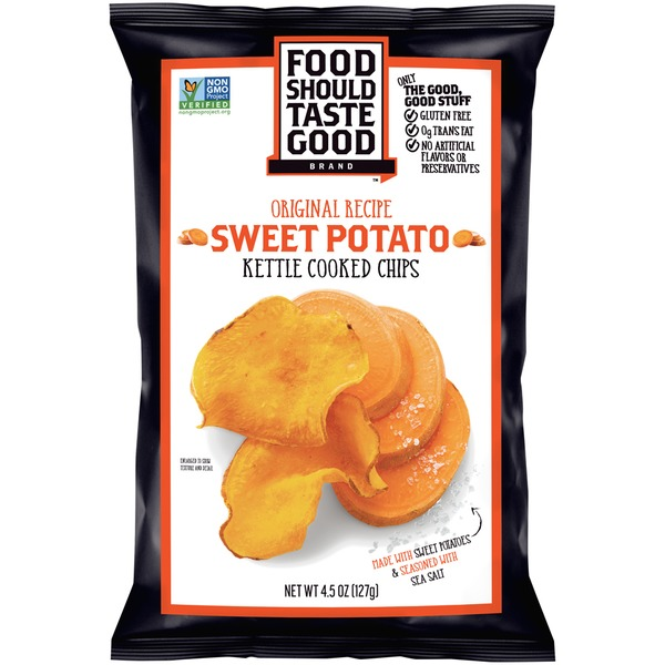 Food Should Taste Good Original Kettle Cooked Sweet Potato Chips