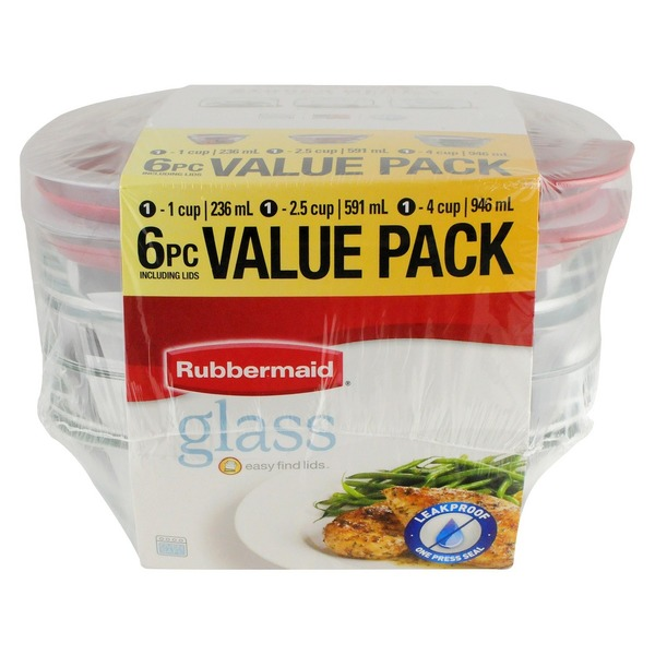 Rubbermaid Glass Food Value