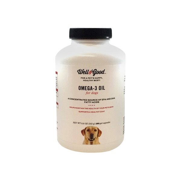 Well & Good Skin & Coat Omega 3 Dog Capsules