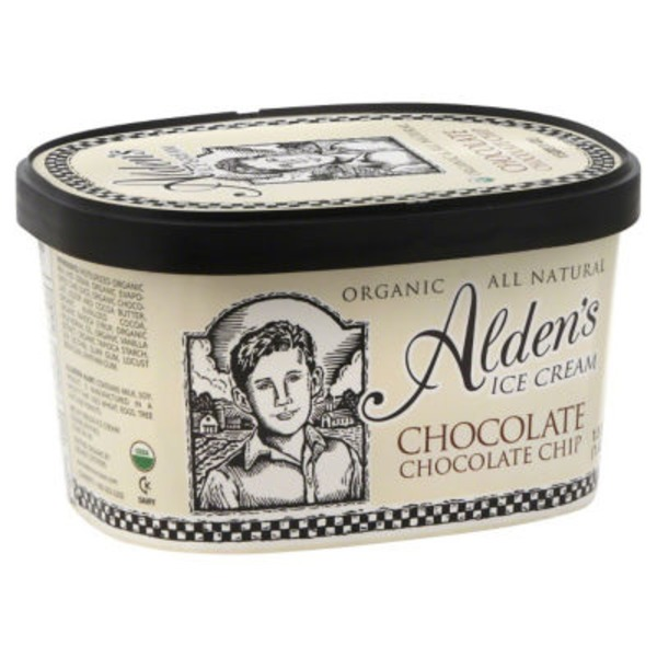 Alden's Organic Ice Cream Chocolate Chocolate Chip
