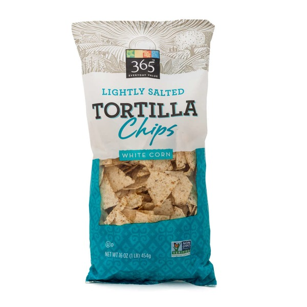 365 Lightly Salted White Corn Tortilla Chips