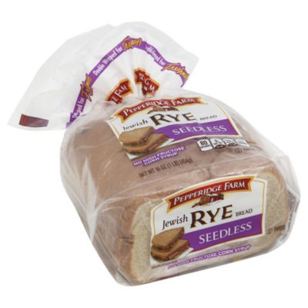 Pepperidge Farm Fresh Bakery Jewish Rye Seedless Bread