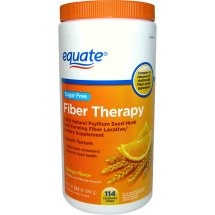 Equate Sugar Free Fiber Therapy Orange Powder, 114 Ct, 23.3 Oz