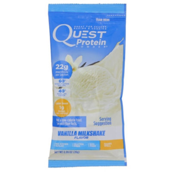 QuestBar Vanilla Milkshake Protein Powder Bar