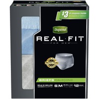 Depend Real Fit for Men S/M Briefs