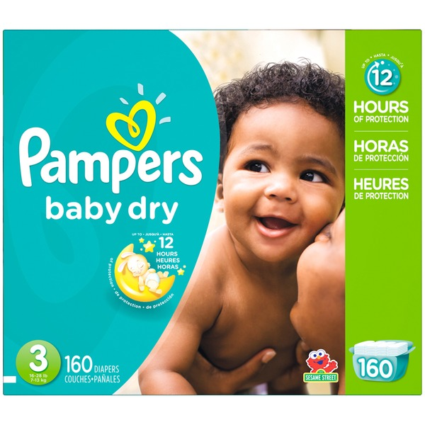 Pampers Baby Dry Pampers Baby Dry Diapers Size 3 160 Count Diapers
