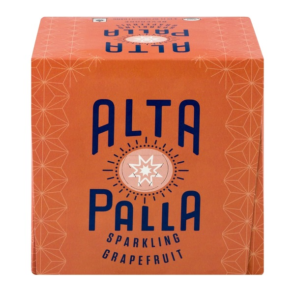 Alta Palla Sparkling Beverage Grapefruit - 4 CT