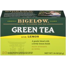 Bigelow Green Tea with Lemon, Tea Bags, 20 Ct