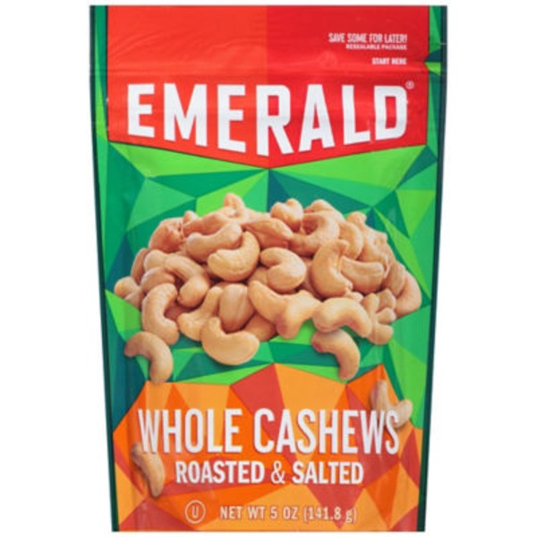 Emerald. Roasted & Salted Whole Cashews