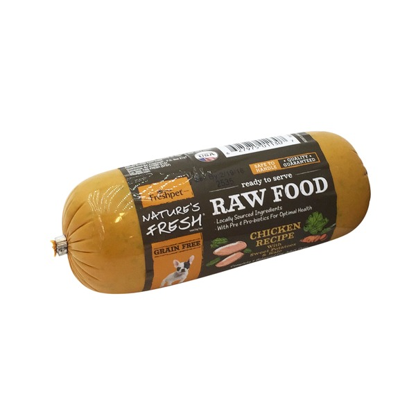 Freshpet Natures Fresh Raw Chicken Kale Sweet Potato Dog Food