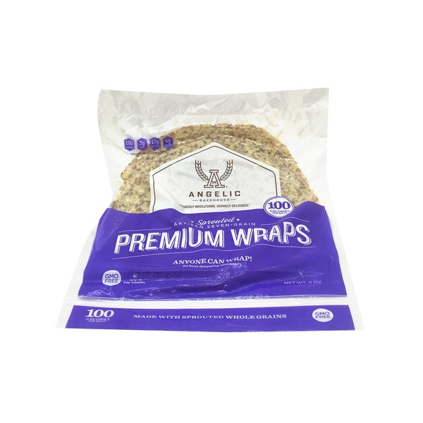 Angelic Bakehouse Premium Sprouted Artisan Seven-Grain Wraps