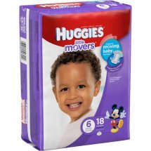 HUGGIES Little Movers Diapers, Size 6, 18 Diapers