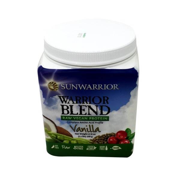 Sunwarrior Vanilla Flavor Raw Vegan Warrior Blend Protein