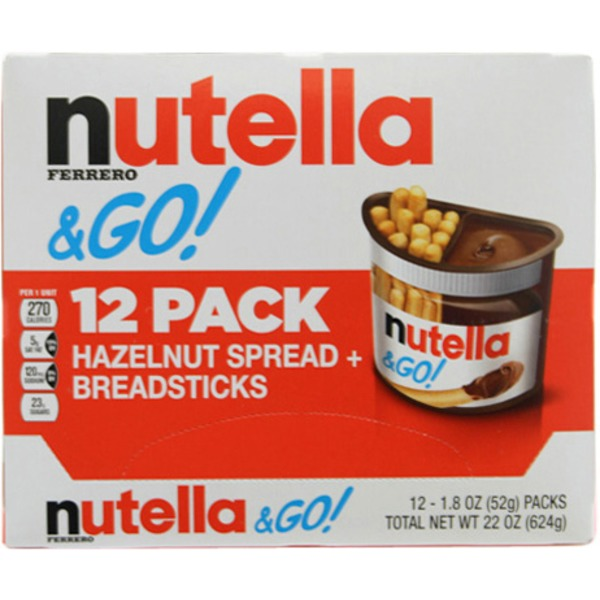 Nutella & Go & Go! Hazelnut Spread + Breadsticks