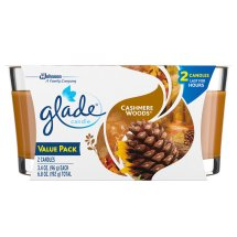 Glade Candle, Cashmere Woods, 3.4 oz. (Pack of 2)