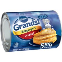 Pillsbury Grands! Flaky Layers Original Biscuits, 5 ct, 10.2 oz