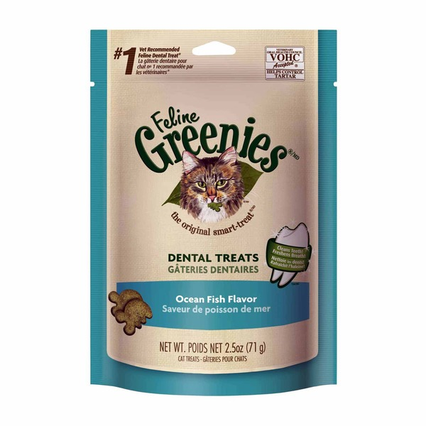 Feline Greenies Dental Catnip Flavor Cat Treats