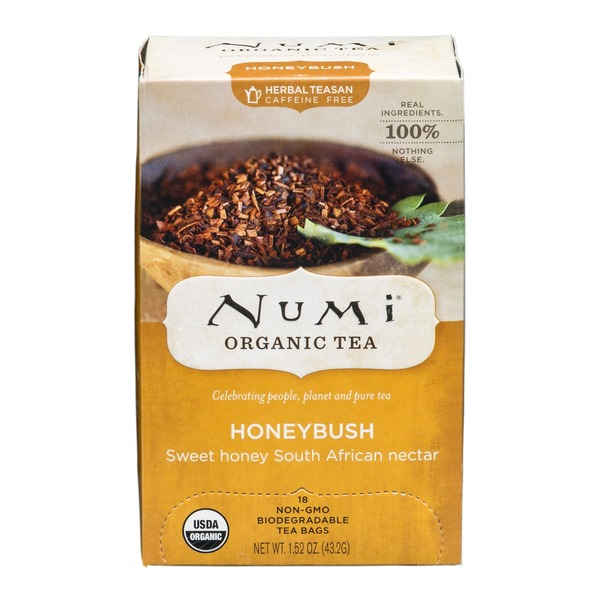 Numi Organic Honeybush Tea, Caffeine Free