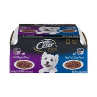 Cesar Variety Pack Canine Cuisine Gourmet Filets New York Strip & Filet Mignon Wet Dog Food