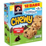 Quaker Chewy Chocolate Chip Granola Bars, 12 Count, 0.84 oz Bars