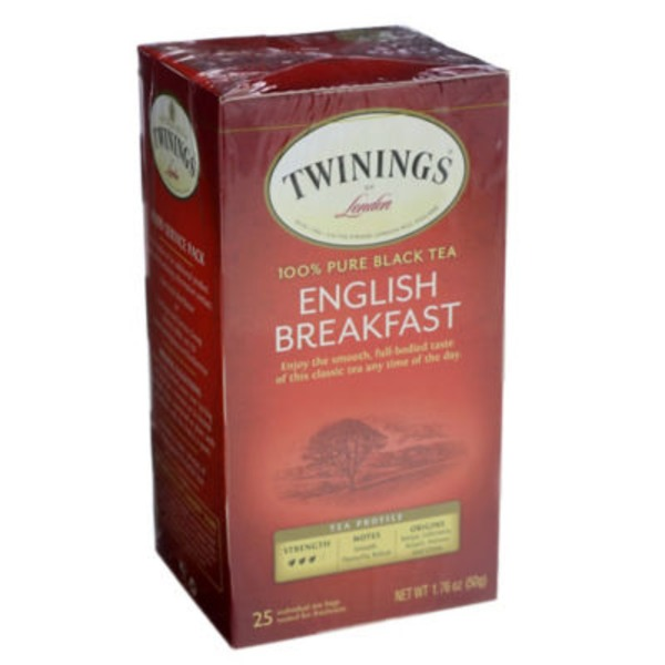 Twinings English Breakfast 100% Pure Black Tea Tea Bags