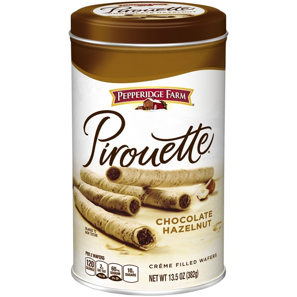 Pepperidge Farm Cookies Pirouette Chocolate Hazelnut Creme Filled Wafers