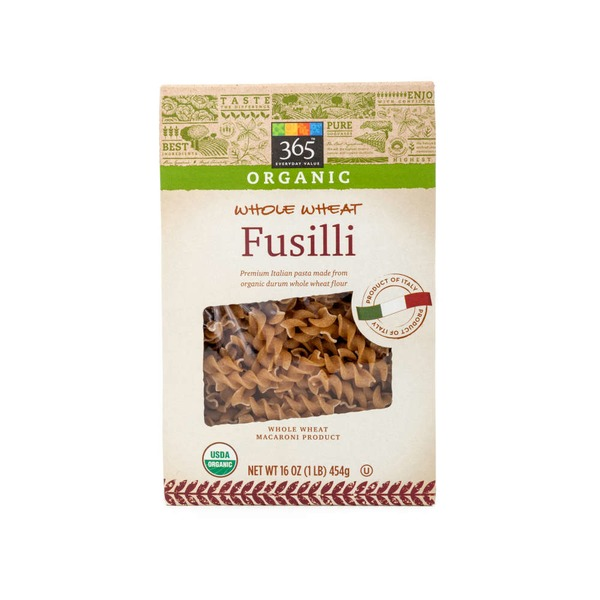 365 Organic Whole Wheat Fusilli