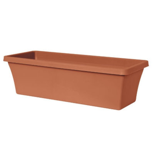 Fiskars Terrabox 24 Inch Plastic Planter Terracotta Color