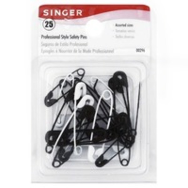 Singer Safety Pins, Professional Style, Assorted Sizes