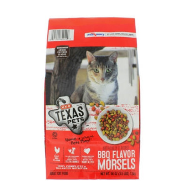 H‑E‑B Texas Pets BBQ Flavor Morsels Dry Cat Food