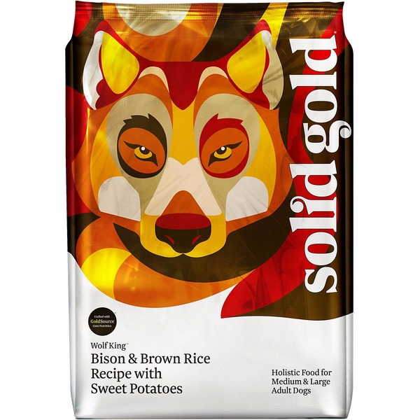 Solid Gold Wolf King Bison Brown Rice & Sweet Potatoes Adult Dog Food 12 Lbs.