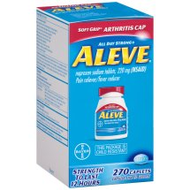 Aleve Soft Grip Arthritis Cap Caplet, Pain Reliever, 270ct