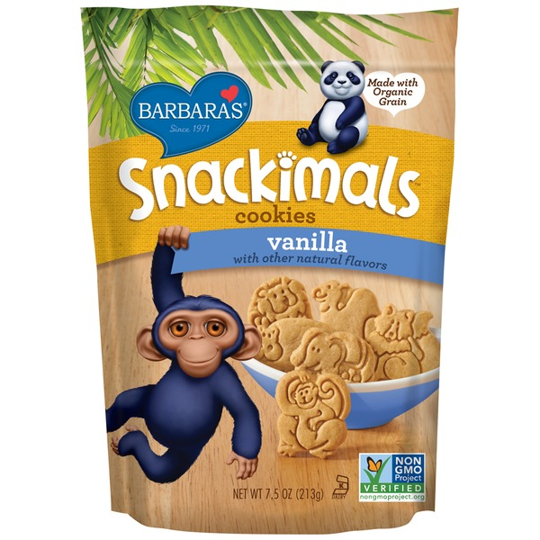 Snackimals Cookies Snackimals Organic Vanilla Cookies