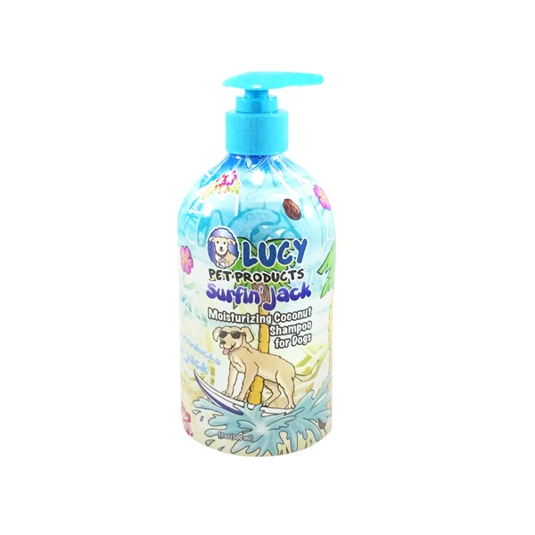 Lucy Pet Products Surfin' Jack Coconut Dog Shampoo