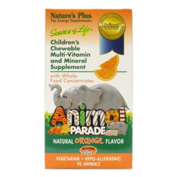 Nature's Plus Animal Parade Children's Chewable Multi Vitamin And Mineral Orange Flavor